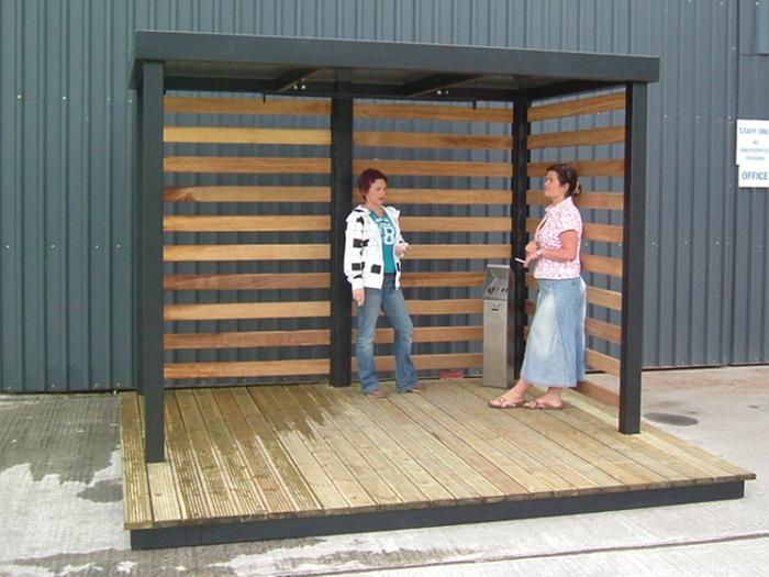 Arba - Pavillion Shelter & Smoking Shelters - Compliant Smoke Shelter Ireland